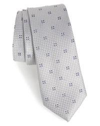 Calibrate - Metallic Classic Neat Silk Tie for Men - Lyst