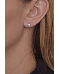 Bony Levy Pink 14k Rose Gold Bezel Set Diamond Stud Earrings - 0.25 Ctw