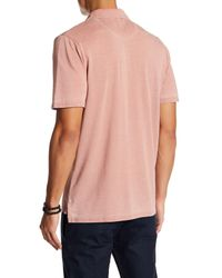 Threads For Thought - Pink Short Sleeve Burnout Polo for Men - Lyst