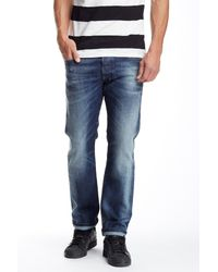 DIESEL | Blue Safado Distressed Straight Leg Jean for Men | Lyst