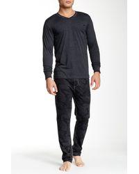 DIESEL - Black Umset Marjo V Pajama Set for Men - Lyst