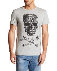DIESEL | Gray Smash Short Sleeve T-shirt for Men | Lyst