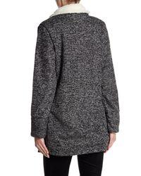 Dex Gray Faux Fur Collar Jacket