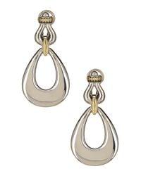 Lagos - Metallic Sterling Silver & 18k Yellow Gold Derby Drop Earrings - Lyst