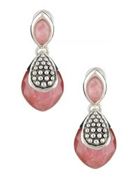 Lagos - Metallic Sterling Silver Maya Drop Earrings - Lyst