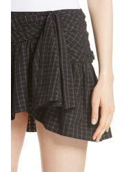 Mes Demoiselles - Black Sylvia Faux Wrap Mini Skirt - Lyst