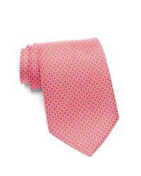 Ferragamo | Red Geo Print Silk Tie for Men | Lyst