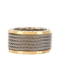 Alor - Metallic 18k Gold & Stainless Steel Classique Cable Ring - Lyst