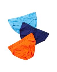 2xist - Blue No Show Brief - Pack Of 3 for Men - Lyst