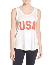 Alternative Apparel | White Usa Screenprint Muscle Tee | Lyst