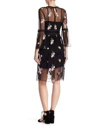 Romeo and Juliet Couture Black Studded Scoop Embroidered Dress