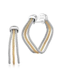 Alor | Metallic 18k Gold Plated Stainless Steel Earrings | Lyst