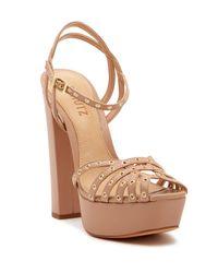 Schutz Brown Corrio Grommet Platform Sandal