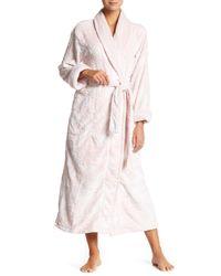 Natori   Pink Plush Robe   Lyst