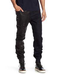 Daniel Won Black Harvey Denim & Genuine Leather Jogger for men
