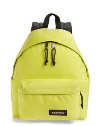 Eastpak - Yellow Padded Pak'r(r) Nylon Backpack - Lyst