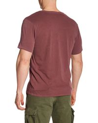 Threads For Thought - Red Short Sleeve Pigment Dyed V-neck Tee for Men - Lyst