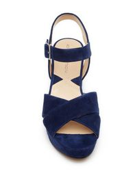 Adrienne Vittadini - Blue Powel Ankle Strap Heeled Sandal - Lyst