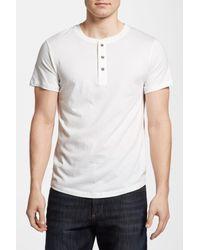 Alternative Apparel | White Wagner Short Sleeve Henley for Men | Lyst