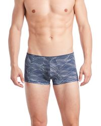 2xist - Blue Sliq Micro Trunks for Men - Lyst