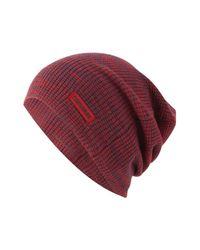 Converse - Red Twisted Waffle Knit Cap for Men - Lyst