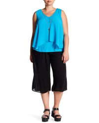 Breathless Black Gauze Wide Leg Pant (plus Size)