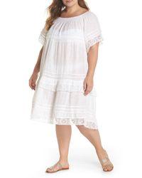 Muche Et Muchette - White Esmerelda Cover-up Dress (plus Size) - Lyst