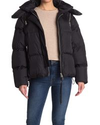 AllSaints Black Vice Puffer Jacket