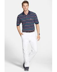 Peter Millar White 'raleigh' Washed Twill Pants for men