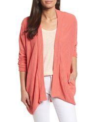 Caslon Pink (r) Drop Shoulder Cardigan (regular & Petite)