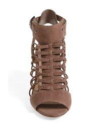 Vince Camuto Black Evel Leather Sandal