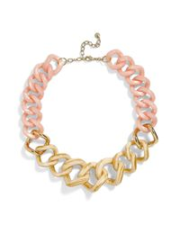 BaubleBar - Metallic Francina Large Acrylic Link Necklace - Lyst