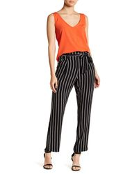 Romeo and Juliet Couture Black Striped Tie Waist Pants