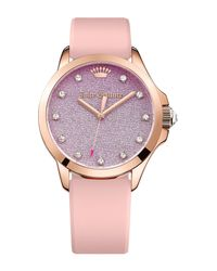 Juicy Couture   Metallic Women's Jetsetter Crystal Casual Watch   Lyst