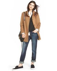 Fleurette - Multicolor Wool Stand Collar Car Coat - Lyst