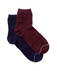 Yummie By Heather Thomson - Purple Spiral Knit Anklet Socks - Pack Of 2 for Men - Lyst