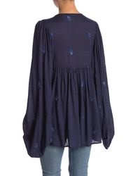 Free People - Blue Kiss From A Rose Blouse - Lyst