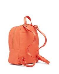 Peace Love World Orange Love Of Your Own Life Denim Backpack