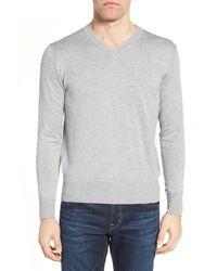 Jeremy Argyle Nyc - Gray V-neck Sweater for Men - Lyst