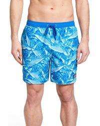 Vineyard Vines Blue Chappy Bonefish Print Swim Trunks for men