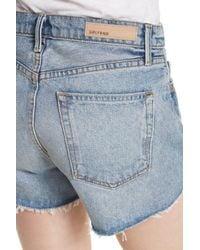 GRLFRND Blue Mardee Denim Shorts (twisted)