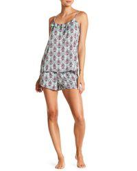 Maidenform Multicolor Ruffle Cami & Shorts Pajama Set