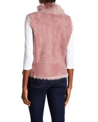 Ugg - Pink Toscana Reversible Genuine Lamb Fur Vest - Lyst