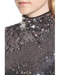 Trouvé - Multicolor Sequin Mock Neck Top - Lyst