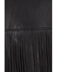 Trouvé - Black Fringe Faux Leather Jacket - Lyst