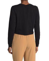 Thakoon Black Cropped Long Sleeve T-shirt