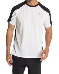 PUMA White Colorblock Active T-shirt for men