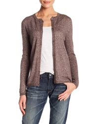 Max Mara - Brown Cashmere & Silk Blend Cardigan - Lyst