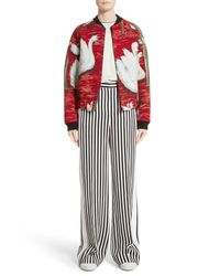 Victoria, Victoria Beckham - Black Stripe Wide Leg Tuxedo Pants - Lyst