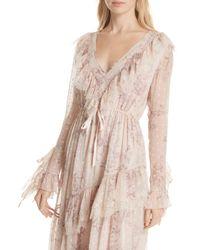 Free People Pink Eliza Midi Dress